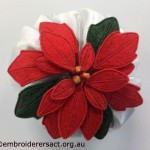 Poinsettia Stumpwork