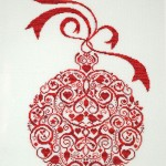 Red Xmas Ball embroidery