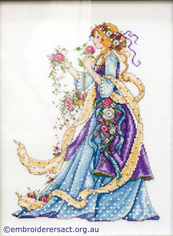 Rose Lady X-stitch by Samantha Benda
