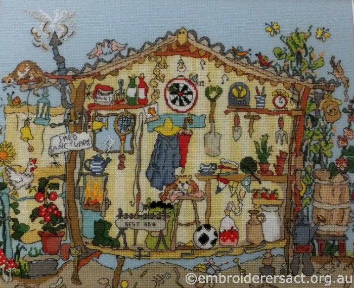 Garden Shed X-stitch