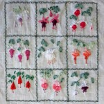 Silk Ribbon Embroidery Fuchsias
