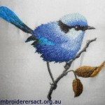 Splendid Wren Thread Painting