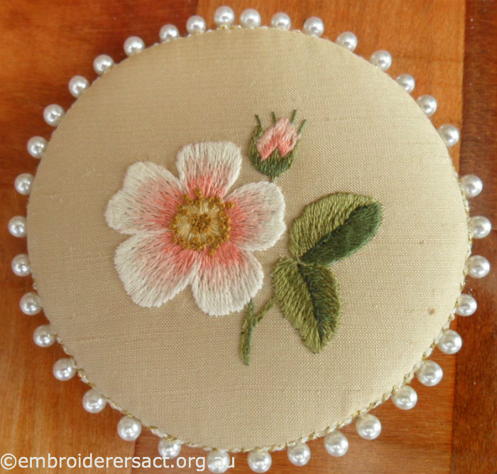 Thread Painting of Dog Rose