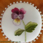 Thread Painting Pansy Pinwheel