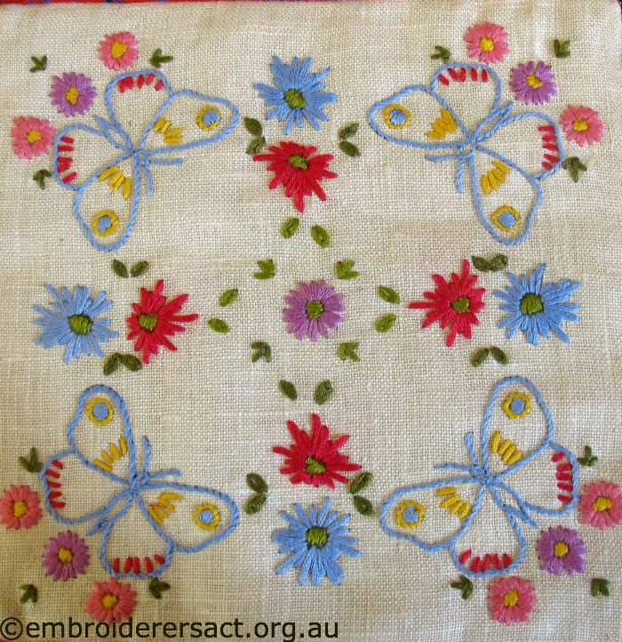 Vintage Square with Butterflies