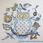 Vintage Owl stitched by Carmen Zanetti