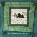 Winter Scene stitchery