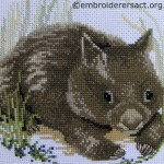 Wombat cross stitch by Irene Burton