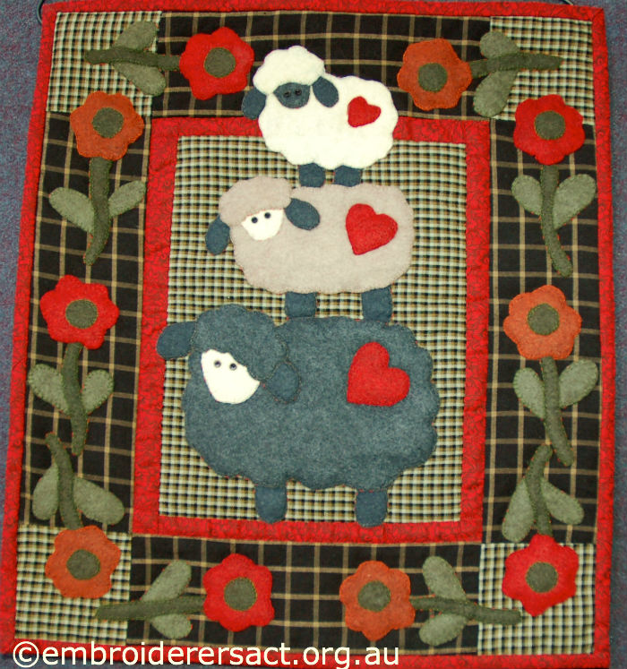 Woolly Sheep Wallhanging