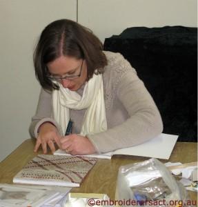 Yvette Stanton signing books