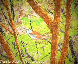 Bird detail Noriko Endo quilt