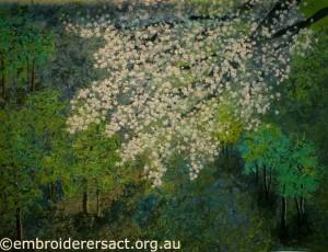 Cherry blossom quilt by Noriko Endo