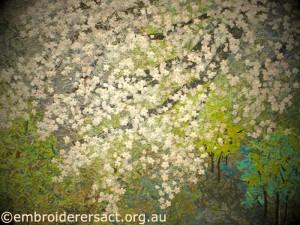 Close up cherry blossom 3 quilt Noriko Endo