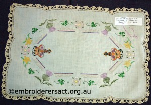 Coronation Tray Cloth by Annette Horvath