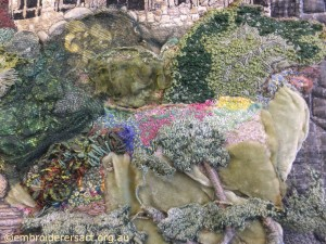 Detail Rocks and Plants from Cityscape by Carol Pichelman