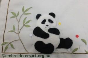 Detail of Elvis Panda blanket