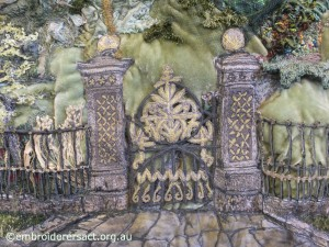 Gate detail from Cityscape by Carol Pichelman