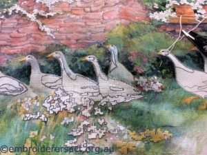 Geese x-stitch by Hatice
