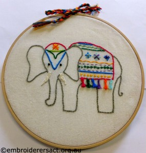 Georgina H1 Elephant in hoop
