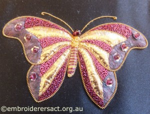 Goldwork Butterfly by Hazel Frances