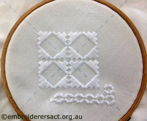 Hardanger in hoop Evelyn Bardara from Queanbeyan
