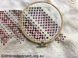 Hardanger in hoop by Doreen McG