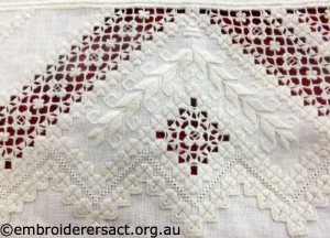 Hardanger lacy detail by Doreen McG