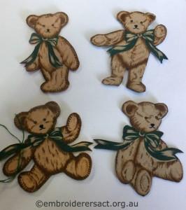 Irene Burton 4 teddy bears