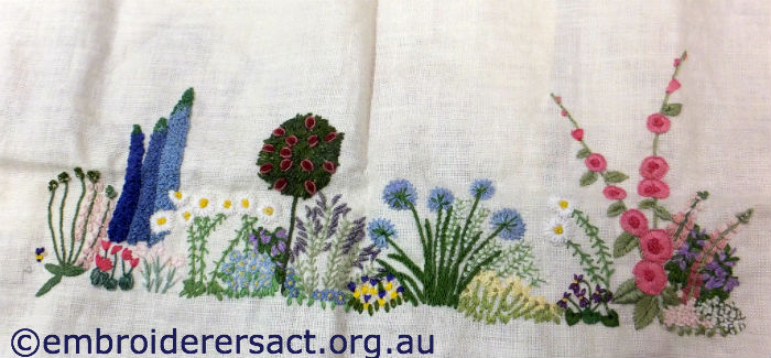 Looking over shoulders embroiderers guild act