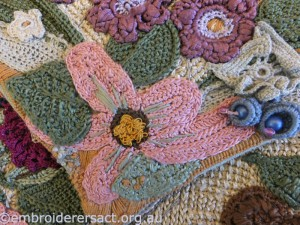Tunisian crochet flowers by Carol Pichelman