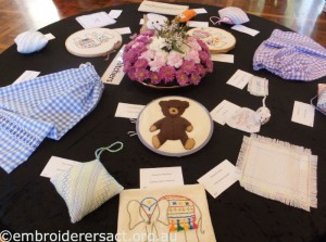 Young Stitchers table at Exhibition 2013