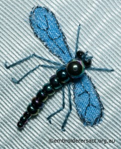Blue Dragonfly on Hexagonal Box by Pat Bootland