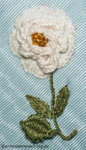 Cream Flower on Hexagonal Box by Pat Bootland