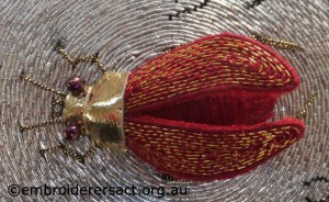 Goldwork Beetle by Pat Bootland