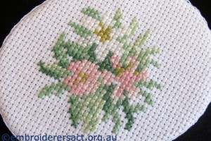 Helen Leaney X stitch on box lid Challenge