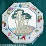 Hexagonal Box with stitched Seascape & Stumpwork