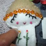 Mushroom Girl Feltie