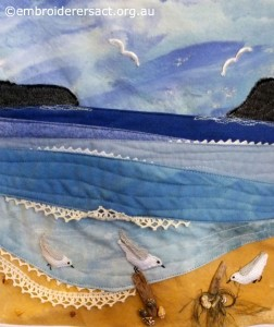 Stitched Seascape by Christine Bailey