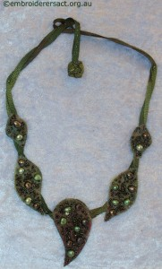 Upcycling challenge Necklace by Fran Novitski