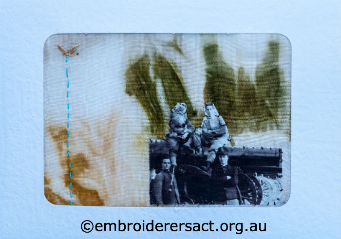 Re-interpretation of WW1 Silk Postcard