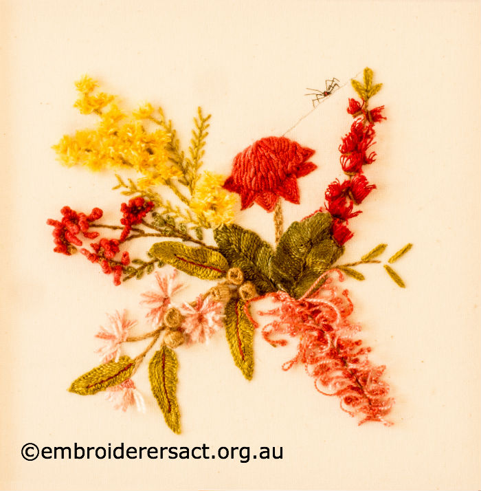 Australian Native Flowers Stitched By Evelyn Foster