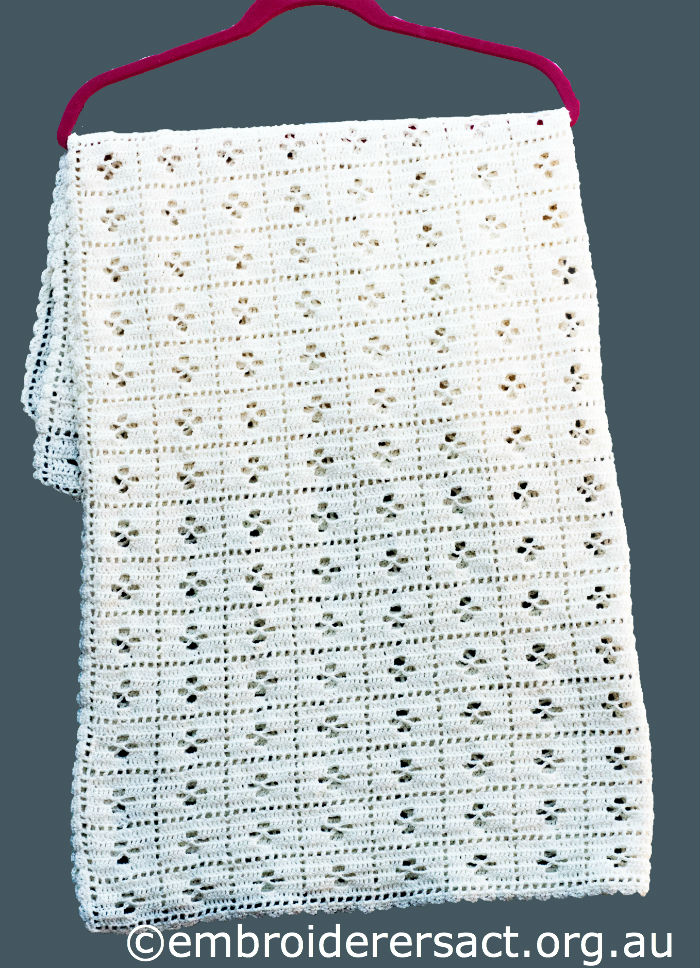 crocheted baby rug