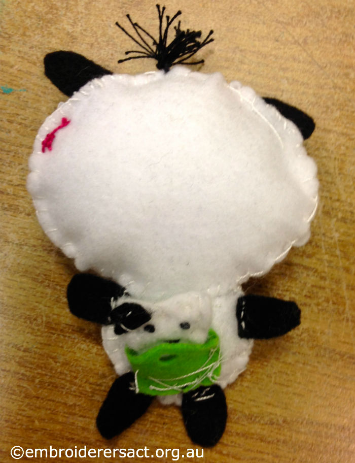 Back of Pandy the Panda