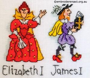Barbara Baileys xstitch Elisabeth 1 and James 1