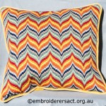 Bargello cushion