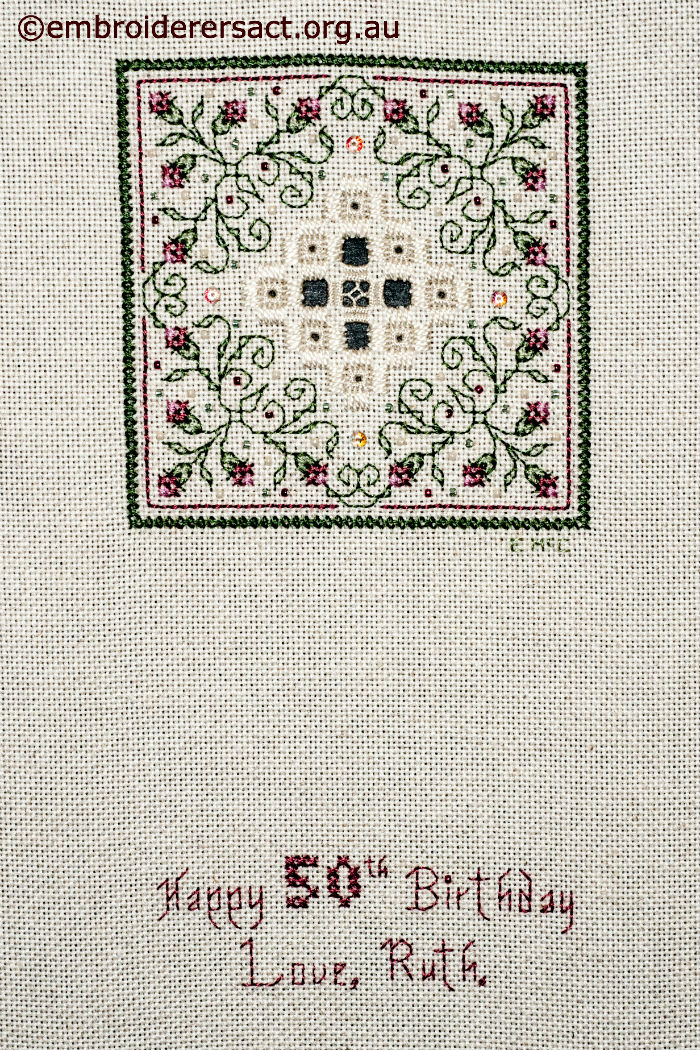 Birthday Hardanger & Cross Stitch