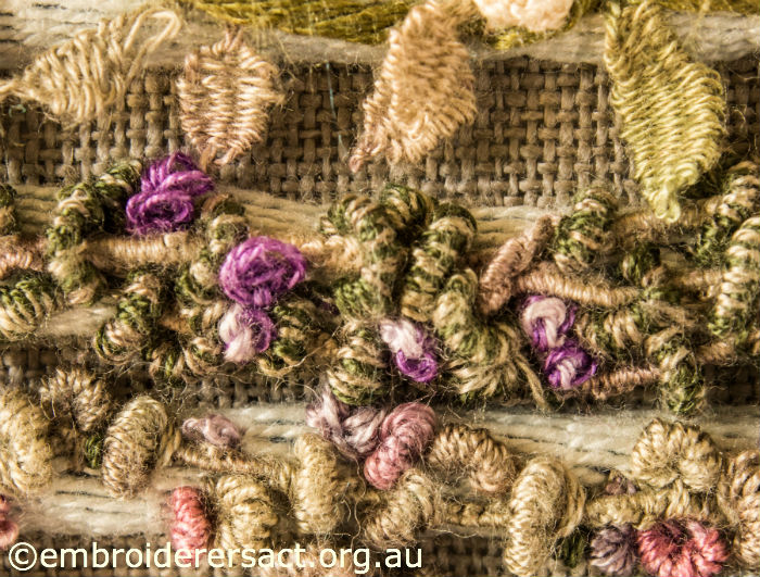 Detail of Bullions & French Knots