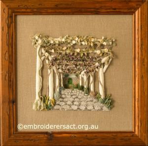 Casalguidi Garden Avenue in frame by Pat Bootland