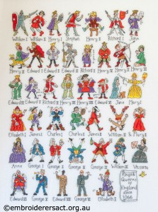 Cross Stitch of British Kings and Queens by Barbara Bailey