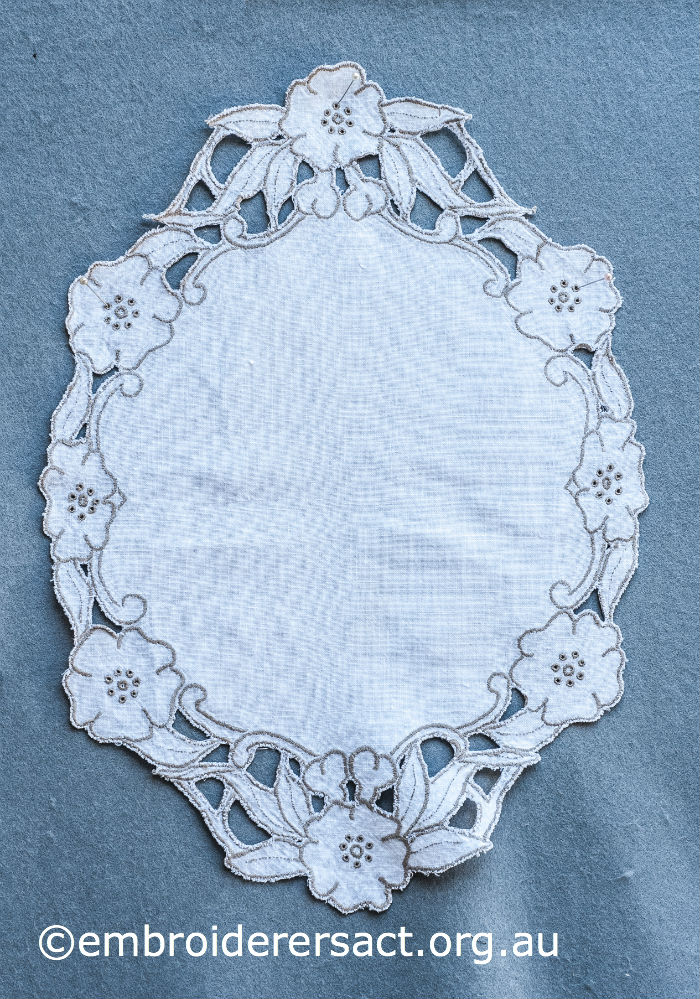 Cutwork Whitework embroidery